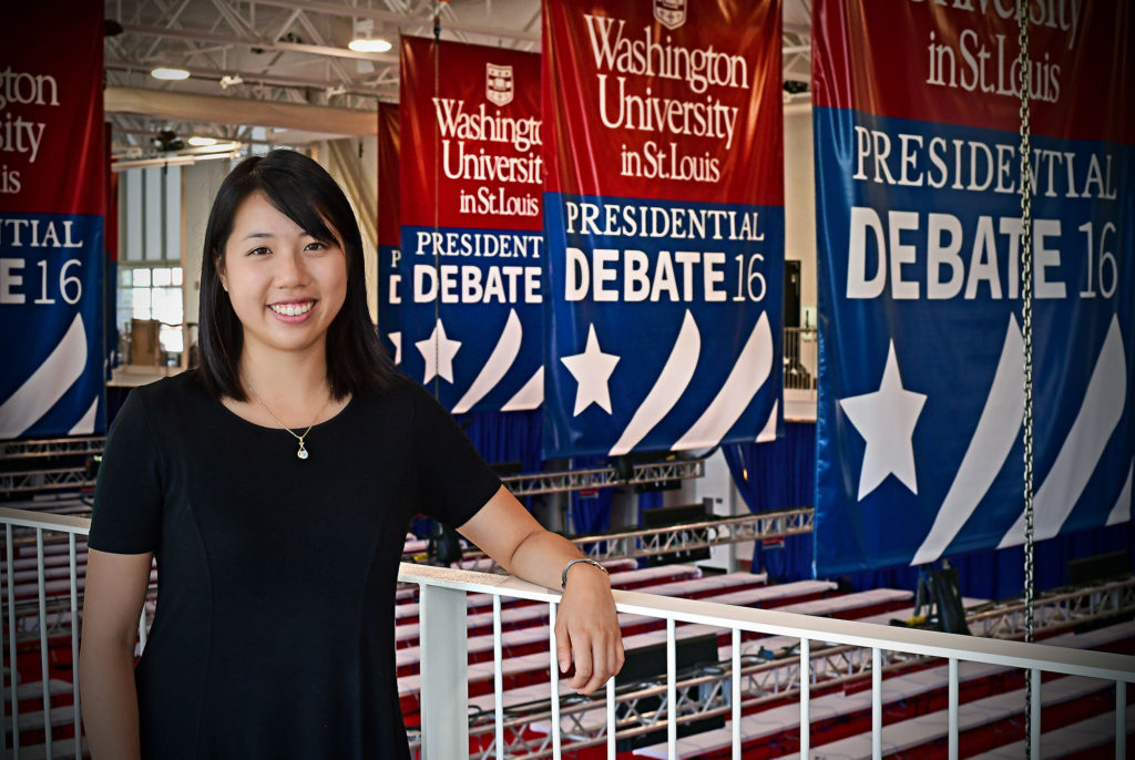 Sherry Xiao in the debate hall October 2016