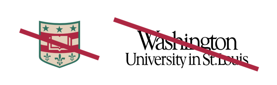 WashU shield seperated from typography