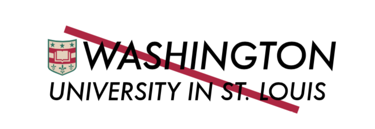 WashU Logo in unapproved font