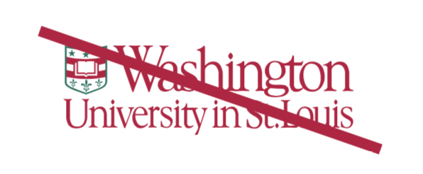 WashU logo in unapproved color