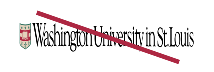 WashU logo that is squished out of proportion