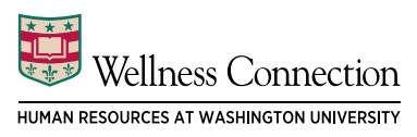 Wellness Connection written above Human Resources at Washington University as a Level 3 Lock up